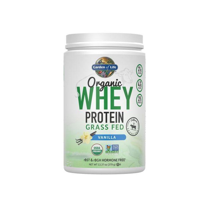 Garden Of Life Organic Whey Protein Powder Grass Fed Vanilla 12 Servings